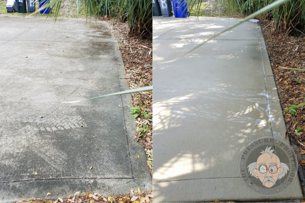 Remove tire marks from your driveway with our restoration services